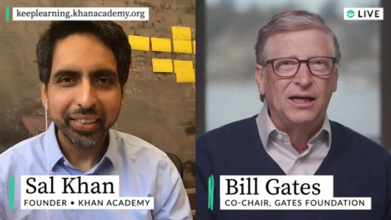 Bill Gates and Sal Khan Live this Friday